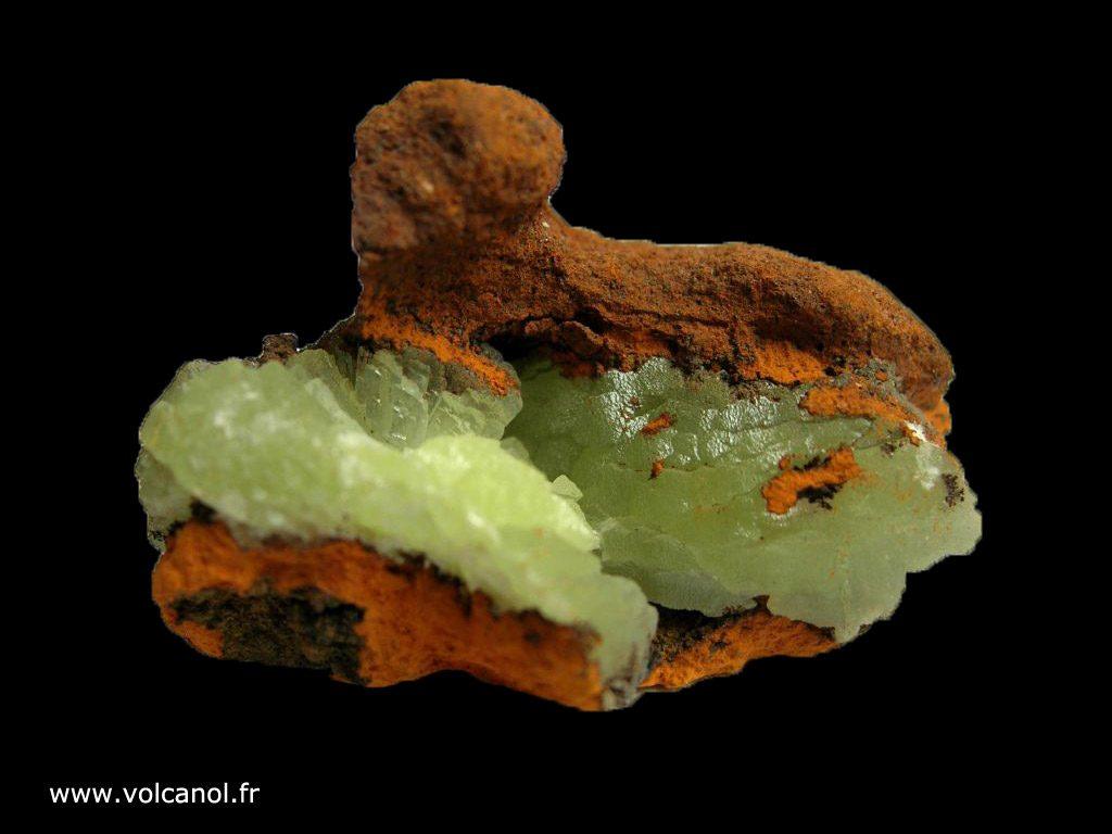 Adamite sur limonite du Mexique, vue générale