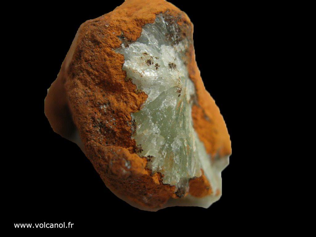 Adamite sur limonite du Mexique, vue arrière