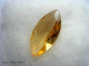 Citrine taillée (variété de quartz - Brésil)