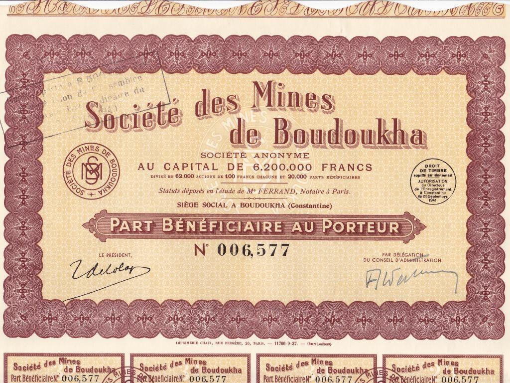 Société des Mines de Boudoukha (Constantine)
