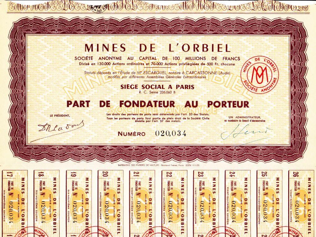 Mines de l'Orbiel - Action minière