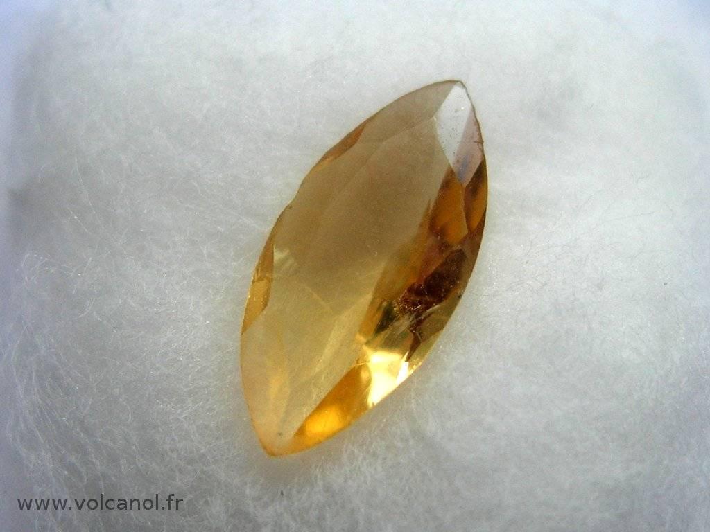 Citrine taillée (variété de quartz – Brésil)