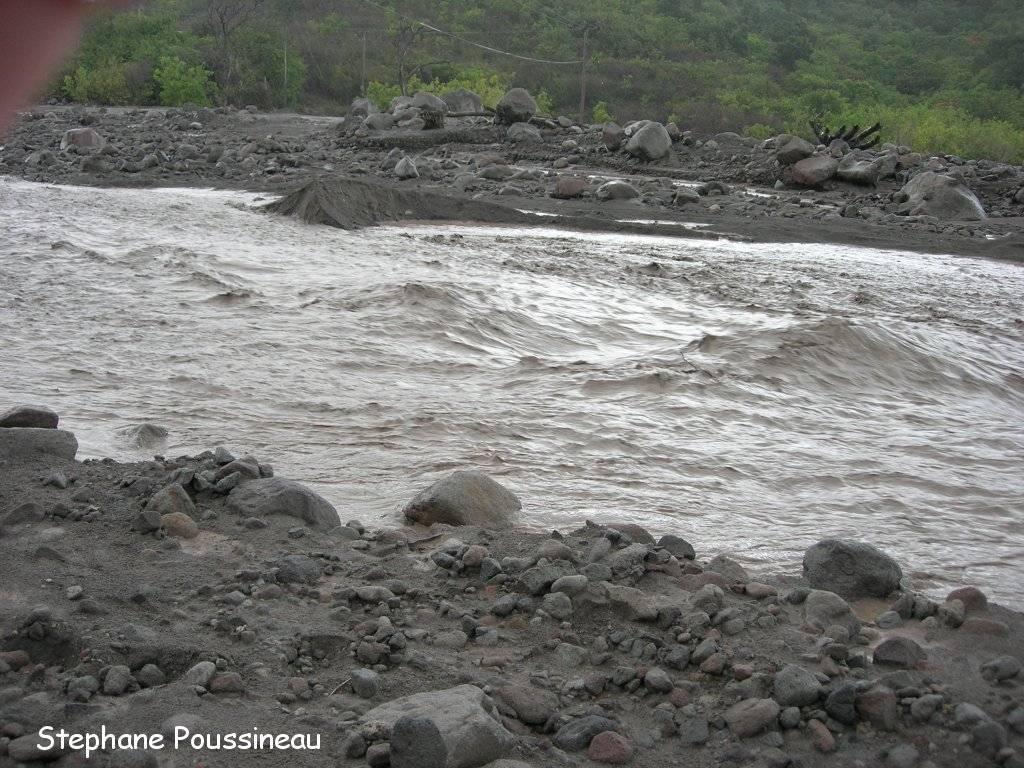 Lahar dans la Belham Valley (Montserrat)