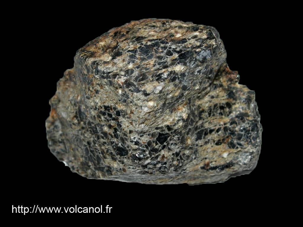 Obsidienne rhyolitique « le Tuf » (Basse-Terre Guadeloupe)