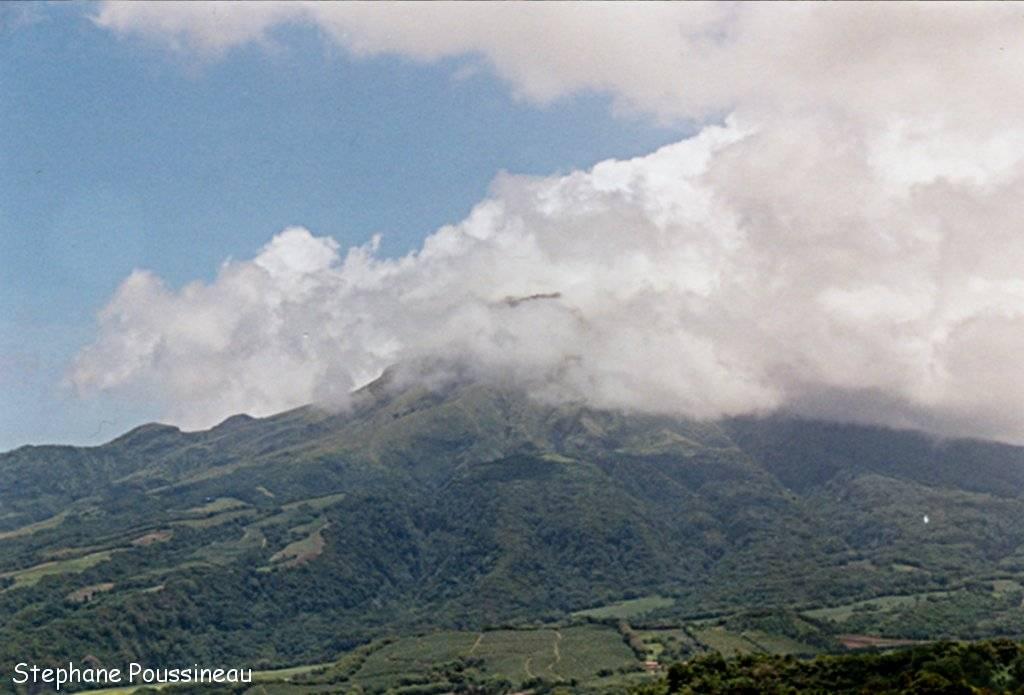 Le sommet de la Montagne Pelée avec son dôme